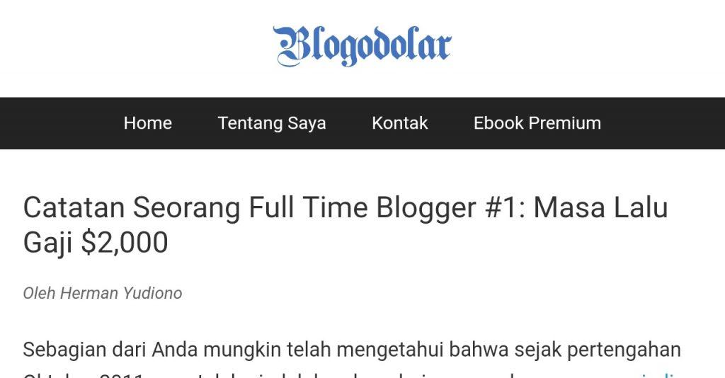 blog blogodolar milik kang Herman Yudiono